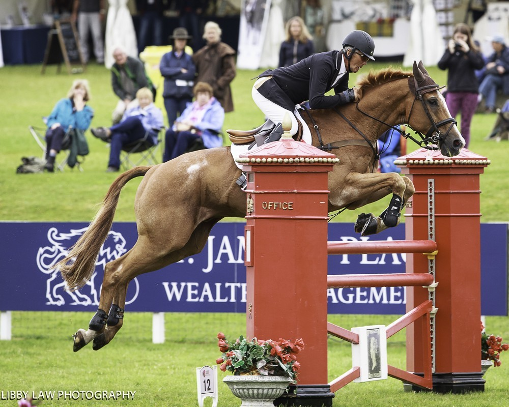 Image for A nail biting show jumping phase at Leg 3