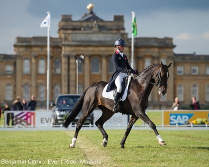 Image for Britain's Izzy Taylor in pole position after dressage at ERM series finale