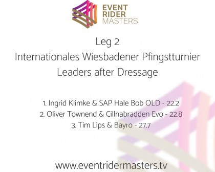 Image for Ingrid Klimke and SAP Hale Bob OLD sit on top of the Leg 2 Leaderboard ahead of the Show Jumping