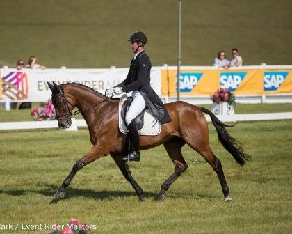 Image for Nicholson and Campbell sit in second and third for New Zealand after dressage at Leg 3