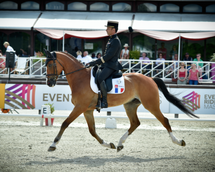 Image for Thibaut Vallette Leads Jardy Dressage